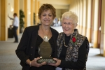 Donna Torrisi (L) - 2017 Loretta C. Ford Lifetime Achievement Award Recipient, presented by Loretta Ford (R)
