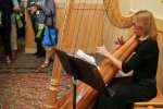 Banquet reception harpist