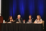 Ethics Forum - (L-R) Nancy Rudner, Richard Lamm, Kelly Arora, Jeanie Youngwerth