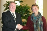 Kelley R. (R) - Advanced Degree Educational Grant, presented by Mark S. (L) of NNPS