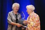 Rosemary Goodyear (L) - 2015 Loretta C. Ford Lifetime Achievement Award Recipient, presented by Loretta C. Ford (R)