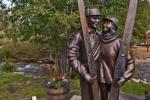 Max & Edna Dercum statue (photo credit Jack Affleck)